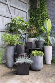 pots de fleurs béton
