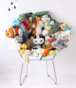 fauteuil peluches