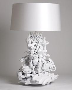 figurines pied de lampe